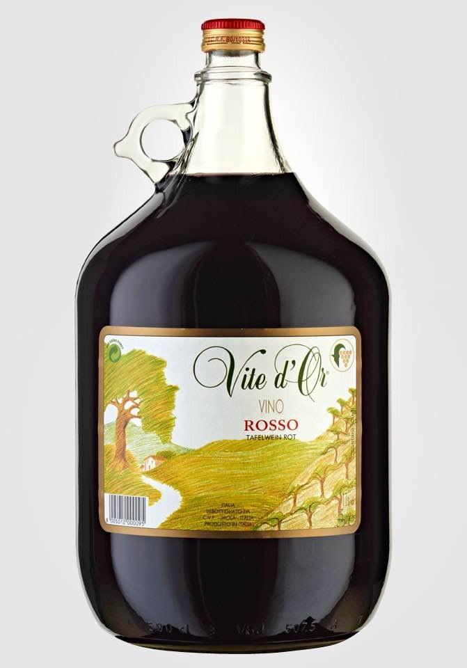 1 damigiana Poletti Vite d'Or vino rosso 5 lt
