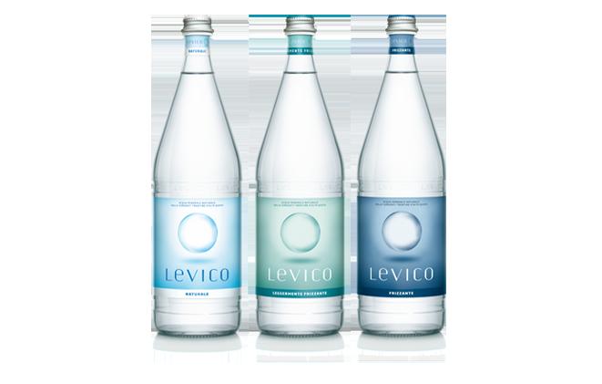 6 bottiglie ACQUA LEVICO MEDIO-FRIZZANTE da 1 litro