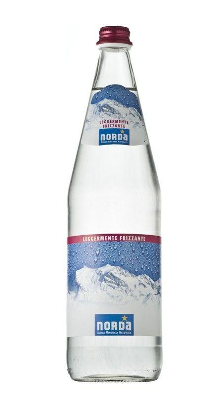 12 bottiglie ACQUA NORDA DAGGIO LEGGERMENTE FRIZZANTE 1 litro
