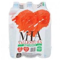 6 bottiglie ACQUA MIA VALLESTURA NATURALE 1,5 litri